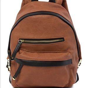 Madden Girl Mini Backpack In Cognac NWT